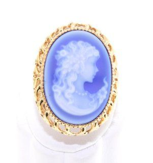 Antique 14K Yellow Gold Oval Cameo Ring Jewelry