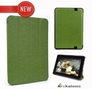 Kindle Fire HD 8.9 Inch Slim Book Folio Case Cover [Auto Wake / Sleep] with built in Stand   GREEN. Bonus Ekatomi screen cleaner sticker Computers & Accessories