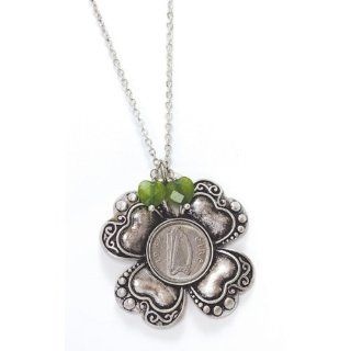 Irish Threepence Four Leaf Clover Pendant Jewelry