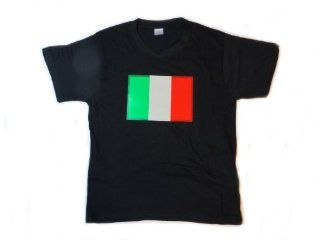 Italy Flag LED Flashing Sound Activated Light Up Shirt (Large   L) Toys & Games