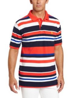 U.S. Polo Assn. Men's Multi colored Striped Polo at  Men�s Clothing store Polo Shirts