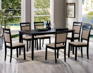 Two Tone color 7 pieces Dining Set Home & Kitchen
