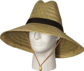 "Lightweight Straw Lifeguard Hat with 1"" Black Band, Small/Medium Sun Hats"
