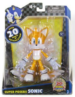 "Miles ""Tails"" Prower 20th Anniversary Super Posers Sonic The Hedgehog ~6.25"" Action Figure Series Toys & Games"