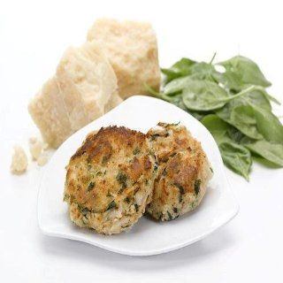 Our Incredible Foods 80426 Crab Cake with Spinach 12 cakes 3 oz each   Lobster Seafood