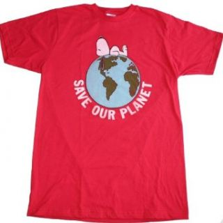 PEANUTS SNOOPY   SAVE OUR PLANET T SHIRT, Adult   Medium at  Men�s Clothing store