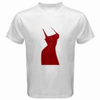 Men's Customized SEXY DRESS 100% Cotton White T shirt Clothing