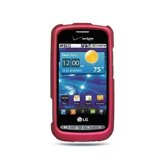Hot Pink Hard Cover Case for LG Vortex VS660 Cell Phones & Accessories