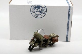 Franklin Mint 1/10 1942 Harley Davidson WLA Military Motorcycle Toys & Games