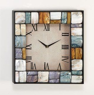 Mother of Pearl Wall Clock Mounted Roman Numeral