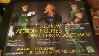 DC Comics DC Direct Green Lantern Black Canary Green Arrow Hard Traveling Heroes Action Figure Collection Ad Poster 17 Inches High, 22 Inches Long 1999  Other Products