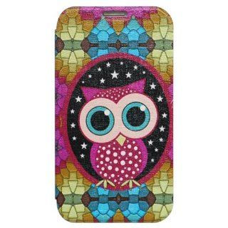 Bfun Packing Colorful Cute Owl Bird Wallet Leather Case Cover For Samsung Galaxy Note 2 N7100 Cell Phones & Accessories