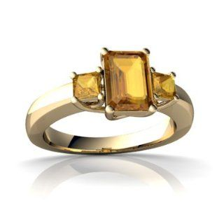 Genuine Citrine 14kt Yellow Gold timeless Ring Jewels For Me Jewelry