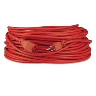 Innovera® Indoor/Outdoor Heavy Duty Extension Cord, 100 Feet, Orange