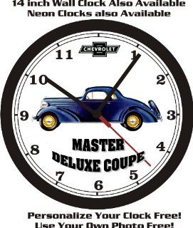 1936 CHEVROLET MASTER DELUXE COUPE WALL CLOCK FREE USA SHIP  Sports Fan Wall Clocks  Sports & Outdoors