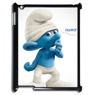 The Smurfs Lovely Classic Cartoon Custom DIY Fashion DIY Case Cover for ipad 3 Cell Phones & Accessories
