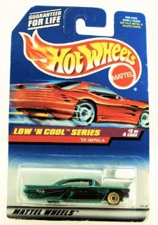 Hot Wheels   1998 Low 'N Cool Series   1959 Impala   Green Custom Paint   #2 of 4   Rare Red Card   Die Cast   Collector #698   Limited Edition   Collectible 164 Scale Toys & Games