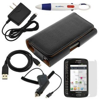 BIRUGEAR 6 in 1 Combo Accessories Bundle Kit for Samsung Galaxy S Relay 4G SGH T699 (T Mobile) [ Pouch Case, Screen Protector, Car & Wall Charger, Data Cable, etc ] Cell Phones & Accessories