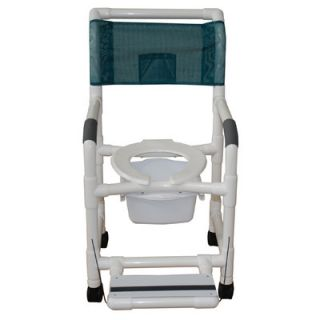 MJM International Standard Deluxe Shower Chair with Footrest with