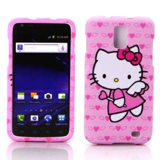 Case for AT&T Samsung Galaxy S II Skyrocket SCH i727 Hello Kitty Snap on Cover Skin Hard Holster (NOT For AT&T Samsung Galaxy S II SCH i777) Cell Phones & Accessories