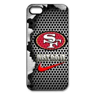 NFL San Francisco 49ers Logo Iphone 5 5S Case Nike Logo Case Cover black&white Cell Phones & Accessories