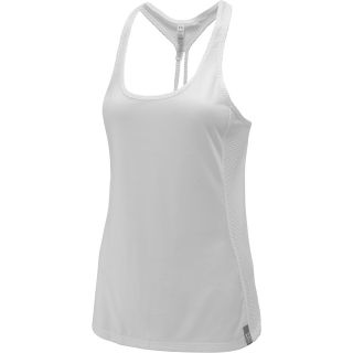 UNDER ARMOUR Womens Fly By Stretch Mesh Tank Top   Size XS/Extra Small, White