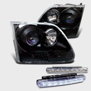 1997 2003 FORD F150 PROJECTOR HEADLIGHTS HEAD LIGHTS + 8 LED FOG BUMPER LAMPS Automotive