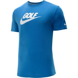 NIKE Mens Sport Golf Short Sleeve T Shirt   Size Small, Military Blue