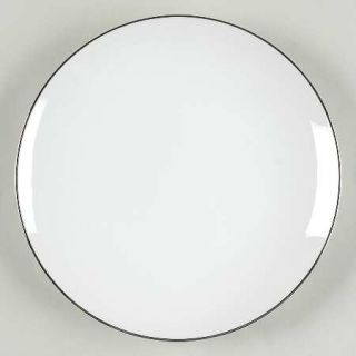 Style House Platinum Ring Salad Plate, Fine China Dinnerware   White, Coupe, Pla