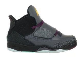 Jordan Son of Mars (PS) Preschool Kids' Basketball Shoes Dark Grey/Bordeaux/Black Dark Grey/Bordeaux/Black 512247 038 11 Fashion Sneakers Shoes