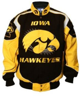 NCAA Iowa Hawkeyes On Campus Twill Jacket (Black/Old Gold, Large)  Sports Fan Outerwear Jackets  Sports & Outdoors