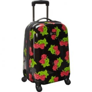 "Betsey Johnson Luggage Black Rose 20"" Hardside Spinner (Black Rose) Clothing"