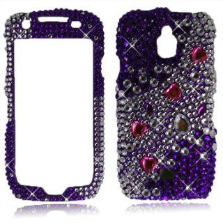 Cellularvilla (Tm) Case for Samsung Exhibit 1 4g T759 Big Purple Diamond Hard Case Cover. Cell Phones & Accessories