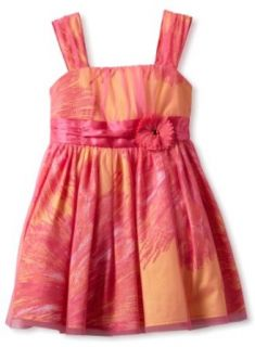 Amy Byer Girls 2 6X Floral Party Dress, Pink, 6X Clothing