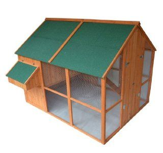 Pawhut Deluxe Extra Large Backyard Chicken Coop / Hen House w/ Outdoor Run