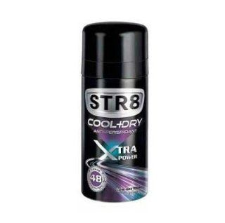 STR8 Xtra Power Cool + Dry Antiperspirant Deo Spray 48h 150ml Health & Personal Care