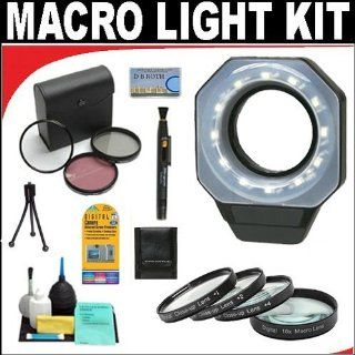 Digital Ring Light For Macro Photography + +1 +2 +4 +10 Close Up Macro Filter Set with Pouch + High Resolution 3 piece Filter Set (UV, Fluorescent, Polarizer) + 6 Piece Deluxe Cleaning Kit + Lenspen Cleaning Tool + Deluxe DB ROTH Accessory Kit For The Sony