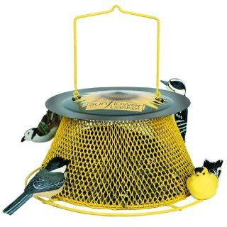 No/No Green and Yellow Sunflower Basket Bird Feeder SB00316  Pet Feeding And Watering Supplies  Patio, Lawn & Garden