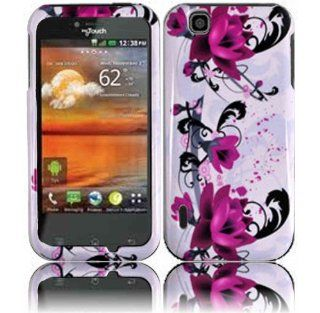 Purple Lily Hard Case Cover for T Mobile Mytouch LG Maxx Touch E739 Cell Phones & Accessories