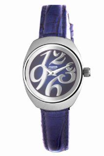 Jowissa Women's J4.090.M Como Stainless Steel Blue Genuine Leather Sunray Dial Watch Watches