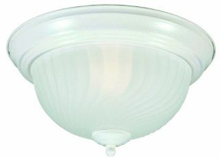 Design House 506634 Millbridge 2 Light Ceiling Mount, 7 Inch by 13.25 Inch, Textured White   Close To Ceiling Light Fixtures