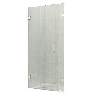 DreamLine SHDR 23357210 01 35 Inch Width x 72 Inch Height Radiance Frameless Hinged Shower Door, Chrome
