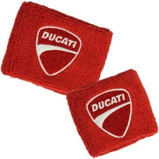 Ducati Red Brake and Clutch Reservoir Sock Cover Set Fits 748, 749, 848, 848 Evo, 916, 996, 998, 999, 1098, 1198, ST2, ST3, ST4, Streetfighter, Hypermotard, Multistrada, Monster 1100 Automotive