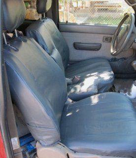 Exact Seat Covers, T772 L8, 1995 2000 Toyota Tacoma 60/40 Split Bench Custom Seat Covers, Gray Leatherette Automotive