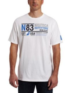 Nautica Men's Cotton Jersey N83 Circle Logo T Shirt, Bright White, XX Large at  Men�s Clothing store