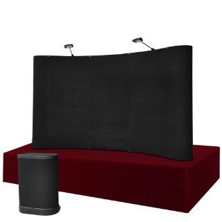 8'x5' Table Top Curved Pop Up Trade Show Display Booth and Podium Kit  Presentation Display Booths