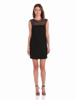Trina Turk Women's Harriet Open Lace Cap Sleeve Dress, Black, 8