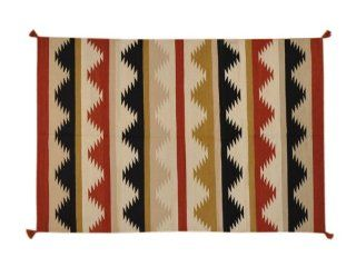 Colorful Hand Woven 100% Wool 6X9 Flat Weave Reversible Navajo Design Rug Sh1713   Hand Knotted Rugs