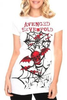 Avenged Sevenfold Red Skull Girls Tunic T Shirt Size  X Small Clothing