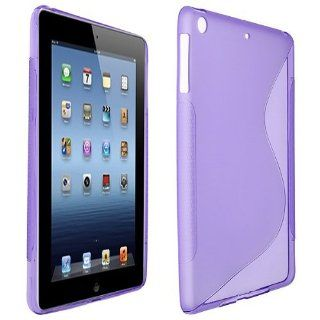 Purple S Shape TPU Rubber Soft Skin Case Cover for Apple iPad Mini Computers & Accessories